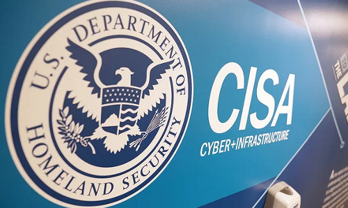 Logo of the Department of Homeland Security's Cybersecurity & Infrastructure Security Agency.